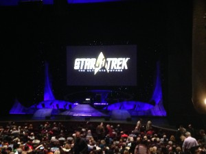 Stage of Star Trek: The Ultimate Voyage concert; Photo by Christopher Erickson