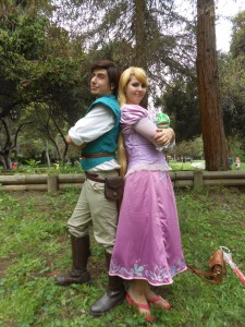 Flynn Rider and Rapunzel at Spring Nor Cal Cosplay Gathering 2016; Photo by Christopher Erickson
