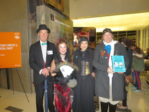 Charles Babbage, Ada Lovelace, Jean and Christopher from costume contest; Photo by Jean Martin