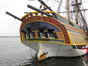 Stern of Lady Washington; Photo by Christopher Erickson