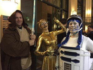 Christopher and the droids; Photo courtesy of Christopher Erickson
